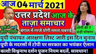 4 March 2021 UP News Today Uttar Pradesh Ki Taja Khabar Mukhya Samachar UP Daily Top 10 News Aaj