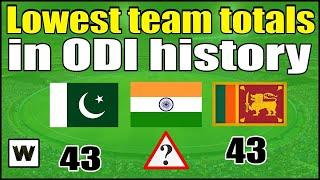 Top 10 Lowest Team Total in ODI Cricket History | Lowest Team Score In ODI Cricket History