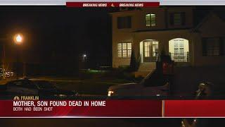 Mother, son found dead inside Franklin home