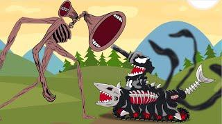 SIREN HEAD Vs Venom Shark Tank - Tank Animation Siren Head Cartoon