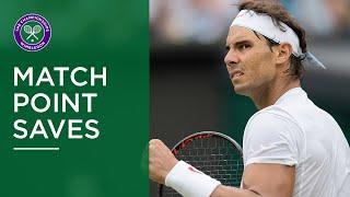 Great Match Point Saves at Wimbledon