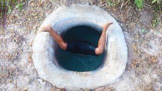 Unbelievable!  Building The Amazing Temple Underground House And Swimming Pool