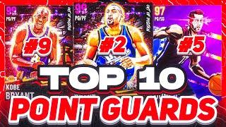 RANKING THE TOP 10 POINT GUARDS IN NBA 2K21 MYTEAM!