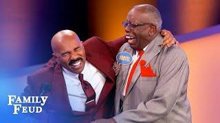 CRAZY! Norvel MISSES the buzzer... and still WINS! | Family Feud