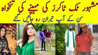 Top 10 Pakistani Tiktokers Income  |Information about Tiktokers |Celebrity News World |CNW