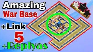New Th12 Anti 1 Star War Base | New Th12 Island war Base | 5 Replyas Proof With Link