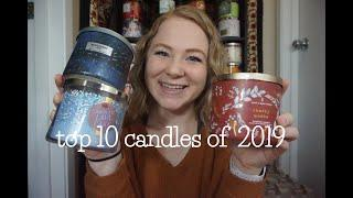 TOP 10 BATH & BODY WORKS CANDLES OF 2019 | WITH 3 HONORABLE MENTIONS