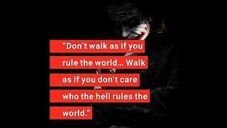 Top 10 Ultimate Joker Quotes #2 || Top 10 powerful attitude Quotes || Power Quotes || badass Quotes