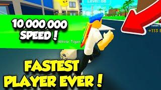 BECOMING THE FASTEST PLAYER EVER IN HEROES OF SPEED SIMULATOR!! *10 MILLION SPEED* (Roblox)