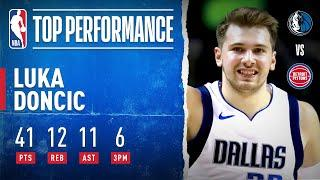 Luka Doncic GOES OFF For HISTORIC Triple-Double!