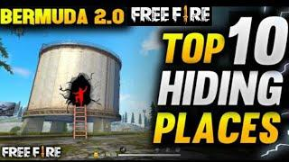 TOP 10 HIDING PLACES IN BERMUDA 2.0 FREE FIRE | Hiding Place in Bermuda 2.0 Free Fire | Hypro Gamerz