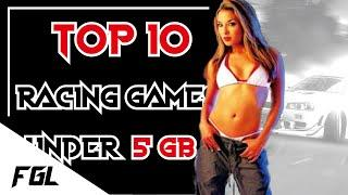 Top 10 Racing Games Under 5 GB Download Size for Low End PCs | 64 - 512 MB VRAM | Intel HD Graphics
