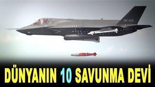 Dünyanın ilk 10 savunma şirketi - World's top 10 defense companies 2020 - Defense News Top 10