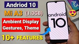Mi A3 Android 10 update rolling out | Dark theme, navigation Gestures, Mi A3 Android 10 features