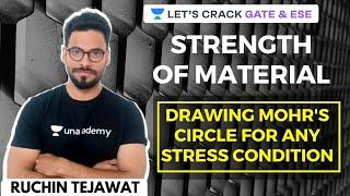L30: Drawing Mohr's Circle For Any Stress Condition | SOM | GATE/ESE 2021 Civil Engineering