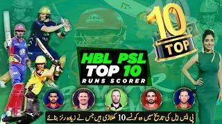 PSL History Top 10 Batsman and Runs Scorer   Top 10 Batsmen in PSL   CWC ANALYSIS -