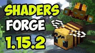 OPTIFINE & SHADERS 1.15.2 minecraft - how to download install Optifine + shaders 1.15.2 with Forge
