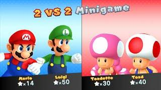 Mario Party 10 - Mario vs Luigi vs Toad vs Toadette - Chaos Castle