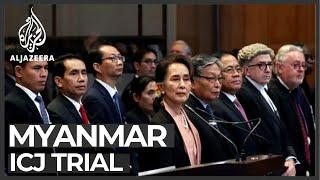 At top court, Myanmar urged to 'stop genocide of own people'