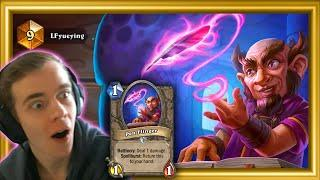 WHAT'S GOING ON?? He's TOP 10 LEGEND With PEN FLINGER Shaman!! (Scholomance Academy)