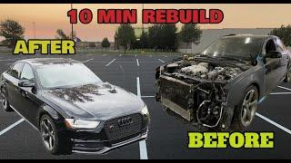 Rebuilding a Salvage Copart Audi S4 in 10 Minutes