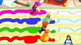 Mario Party The Top 100 Minigames Waluigi vs Peach vs Mario vs Rosalina   MARIO CRAZY