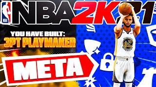 BEST 3PT PLAYMAKER BUILD ON NBA 2K21! META BUILD SERIES VOL. 10