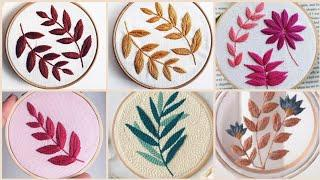 Top Latest Hand Embroidery Flowers And Leaves Patterns Designs Ideas
