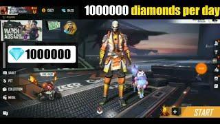How to gain free diamonds in gareena free fire fully explain in hindi . 1000000 diamonds per day