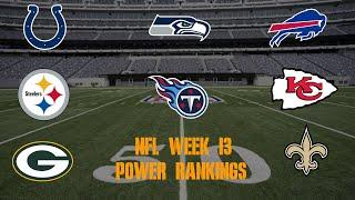 Top 10 NFL Power Rankings Week 13
