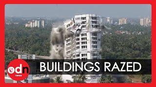 Huge Illegal Buildings Demolished in India