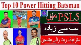 Top 10 Batsmen with Highest Strike Rate in PSL T20   Top 10 Batsmen with Most Runs in PSL 2020