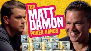 Matt Damon Best Poker Hands from the WSOP