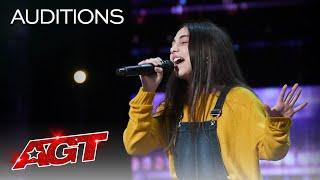 Woah! Simon Cowell Has Ashley Marina Sing 3 Times! She Stuns The Judges - America's Got Talent 2020
