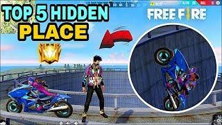 FREE FIRE TOP 5 NEW HIDDEN PLACE || HIDDEN PLACE IN BERMUDA MAP || RKG ARMY