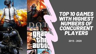 Top10 Games With Highest Number Of Concurrent Players | Best PC Games in the world | Infographic |