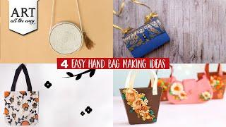 4 Easy Hand Bag Making-Ideas | Fashion DIY | Best out of waste