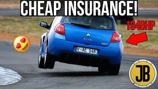 Top 10 CHEAP AND FAST Second Cars for Young Drivers! *CHEAP INSURANCE*