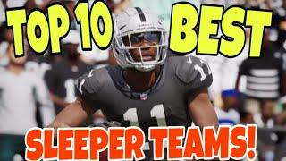 TOP 10 SLEEPER TEAMS! Best Under The Radar Rosters That Can Beat Any Team in Madden 21 CFM & REGS