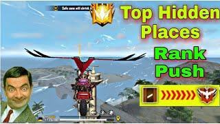 Free Fire - Top Hidden Places For Rank Push || Top Secret Place After Update - Garena Free Fire
