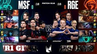 Misfits vs Rogue - Game 1 | Round 1 PlayOffs S10 LEC Spring 2020 | MSF vs RGE G1