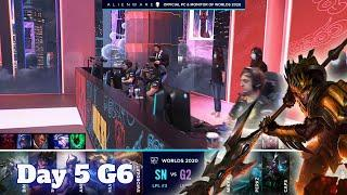 SN vs G2 | Day 5 Group A S10 LoL Worlds 2020 | Suning vs G2 eSports - Groups full game