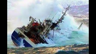 Top 10 Large Ships In Storm! Crash ships washed Waves ashore