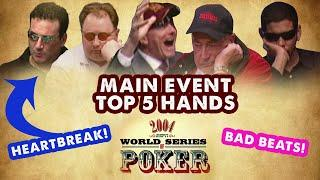 2004 WSOP Main Event - Top 5 Hands | World Series of Poker