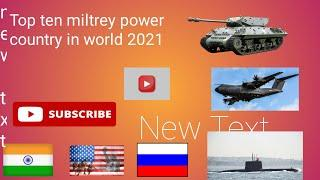 Top 10 Military Power Country In The World 2021(10 desh sabse army power vale 2021