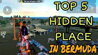 TOP 5 HIDDEN PLACE IN FREE FIRE IN BERMUDA 2021 | RANK PUSH TIPS AND TRICKS IN FREE FIRE 2021