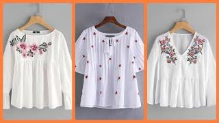 amazing and stylish hand embroidery   summer top design for different ideas latest collection