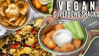 EASY AND CHEAP VEGAN SUPERBOWL FOOD: 3 Quick Vegan Superbowl Snack Ideas | veggieonpennies
