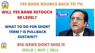 YES BANK LATEST NEWS | RATING OUTLOOK NEGATIVE | WILL PULLBACK SUSTAIN? | BEST LEVEL TO BUY YES BANK