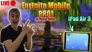 FORTNITE MOBILE - Arena/Pub Stomps! / 4 Finger CLAW (HANDCAM) iPad Air 3! BUILD BATTLES!